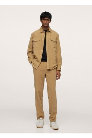 MANGO Elastic waist cotton pants