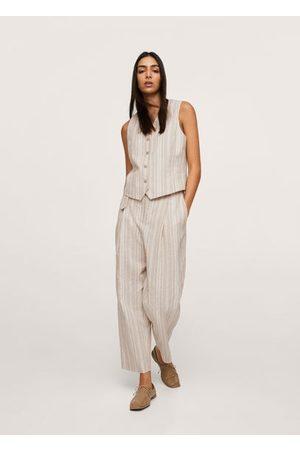 MANGO Linen suit waistcoat