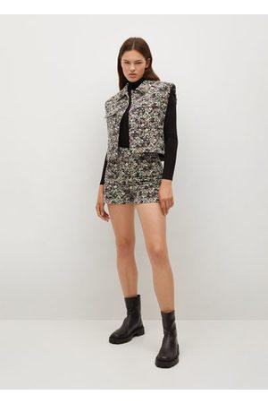MANGO Cropped printed vest
