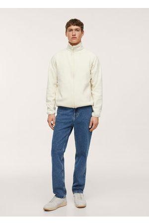 MANGO Fleece zip-up sweatshirt