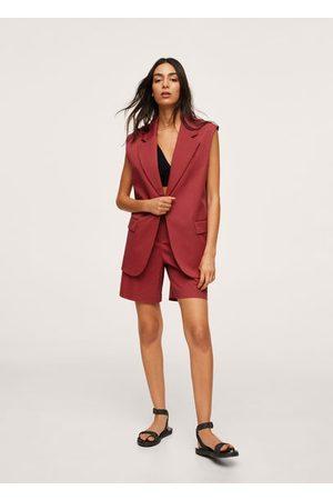 MANGO Cotton suit vest