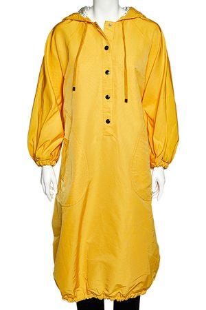 Dolce & Gabbana Cotton Half Button Oversized Hooded Parka Coat S
