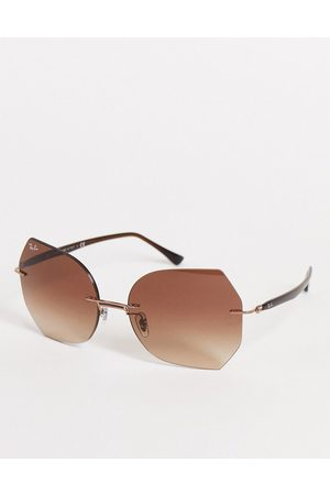 Ray-Ban Womens oversized square sunglasses in 0RB8065