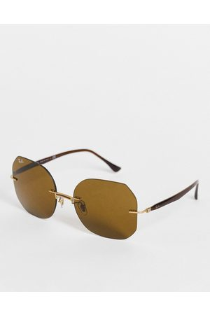 Ray-Ban Womens oversized square sunglasses in 0RB8067