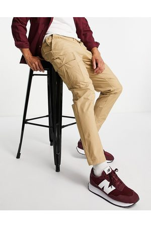 SELECTED Cargo pant in slim tapered -Neutral