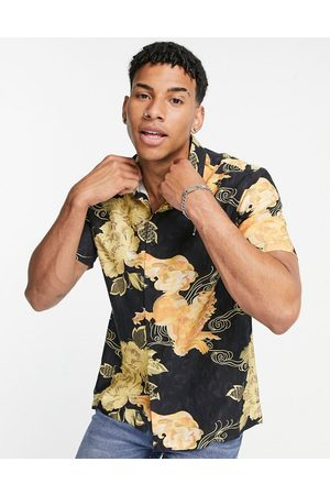 Topman Cotton short sleeve shirt with floral print in