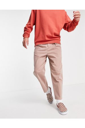 ASOS Wide fit chinos with pleats in