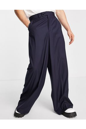 ASOS Extreme wide leg suit pants in navy