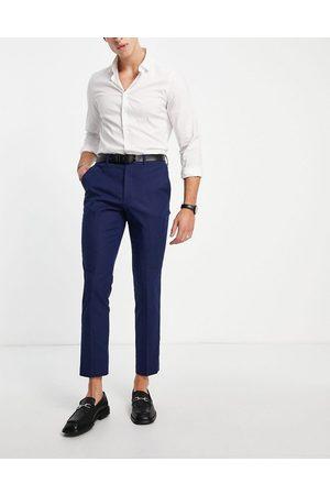French Connection Linen slim fit suit pants-Blues