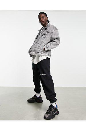 Pull&Bear Oversized denim jacket in -Grey