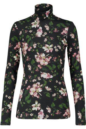 Erdem Kelly floral cotton turtleneck top