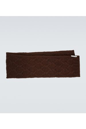 Acne Studios Cable-knit wool-blend scarf