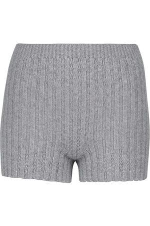 Erdem Kinsley ribbed-knit wool-blend shorts