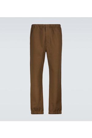 LEMAIRE Men Sweatpants - Cotton and wool fleece sweatpants