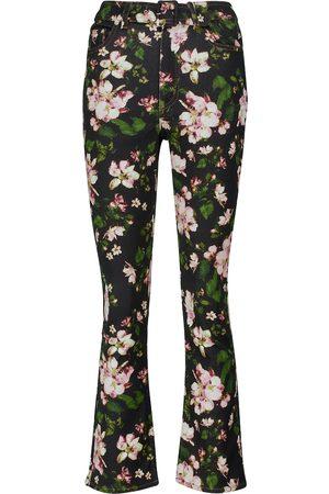 Erdem Women Jeans - Vina floral flared jeans