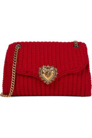 Dolce & Gabbana Women Purses - Devotion knitted shoulder bag
