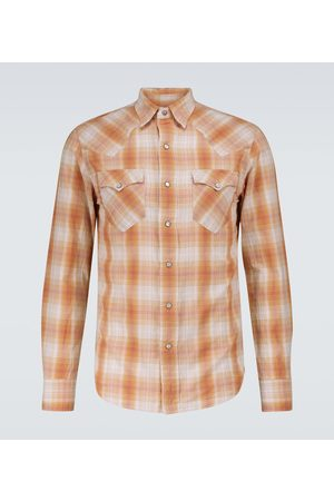 RRL Checked long-sleeved cotton shirt