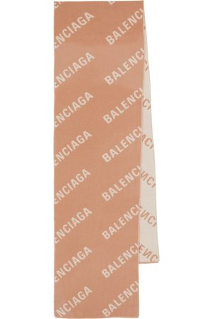 Balenciaga Logo intarsia wool scarf