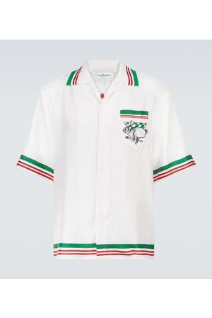 Casablanca Printed short-sleeved silk shirt