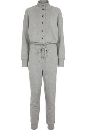 VERONICA BEARD Finn buttoned cotton jumpsuit