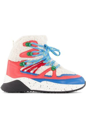 Stella McCartney Outdoor Shoes - Kids - Off- Color Block Hiking Boots - 30 (UK 12) - - Hiking boots