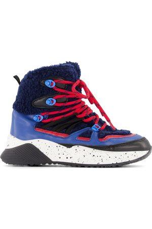 Stella McCartney Kids - Navy Color Block Hiking Boots - 30 (UK 12) - Navy - Hiking boots