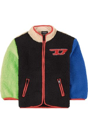 Diesel Kids - Multi Colour Block Selby Teddy Jacket - 6 years - - Spring and fall jackets