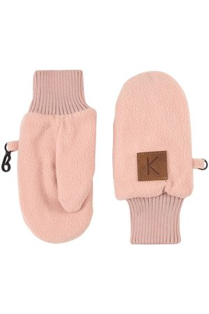 Kuling Pale Woody Rose Northpole Fleece Mittens - 2-4 Years - - Fleece gloves and mittens