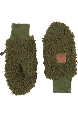 Kuling Gloves - Moss Turin Teddy Mittens - 0-2 Years - - Fleece gloves and mittens