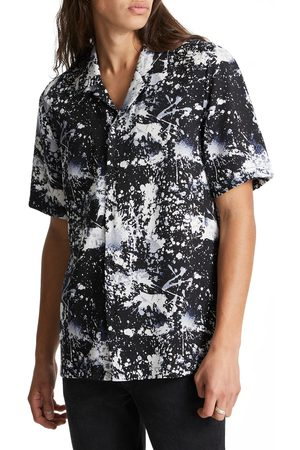 KSUBI Men's Splash Back Relaxed Fit Short Sleeve Button-Up Shirt