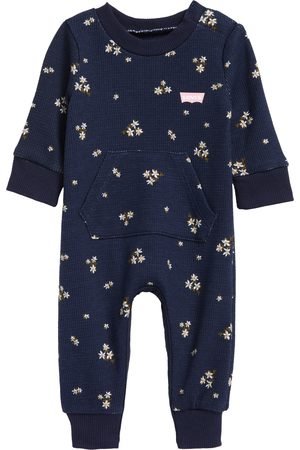 Levi's Girls T-shirts - Infant Girl's Floral Thermal Knit Romper