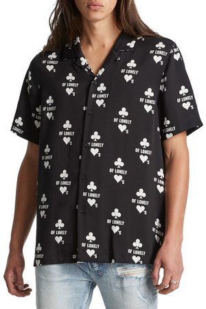 Ksubi Men's Klub Of Hearts Relaxed Fit Short Sleeve Button-Up Shirt