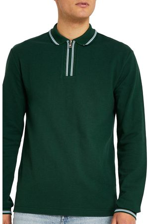 River Island Men's Men's Long Sleeve Polo Shirt