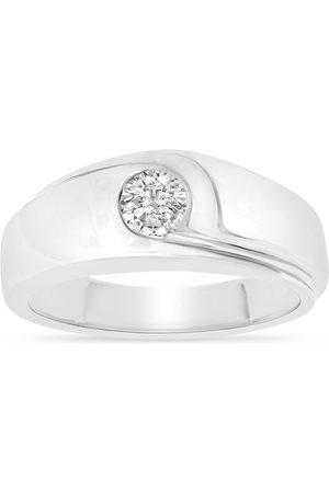 SuperJeweler Previously Owned 1/2 Carat Men's 1 Diamond Ring in 14K (12.2 g)