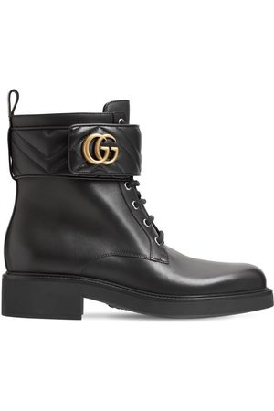Gucci 25mm Marmont Leather Ankle Boots