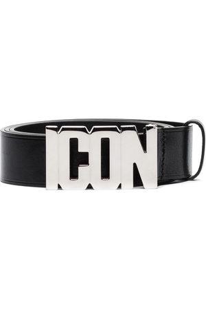 Dsquared2 Men Belts - Icon plaque buckle belt