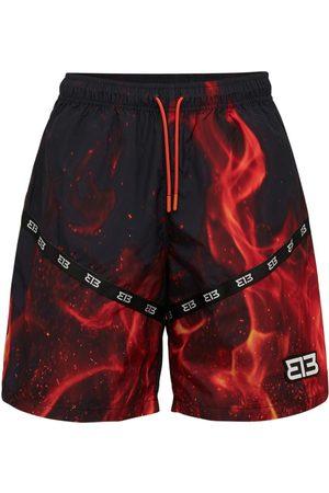 313 Flame Printed Techno Shorts