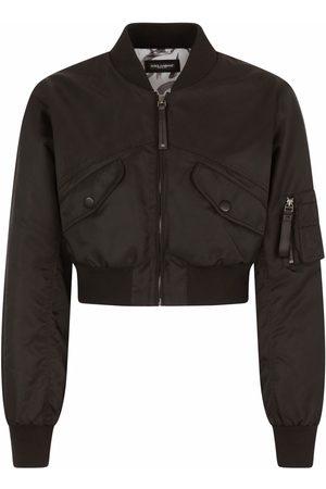 Dolce & Gabbana Men Bomber Jackets - Cropped bomber jacket