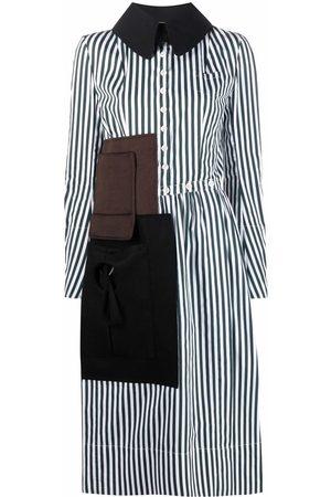 Maison Margiela Memory Of stripe-pattern shirtdress