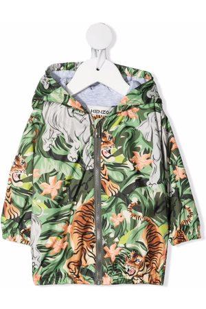 Kenzo Rainwear - Jungle-print hooded jacket