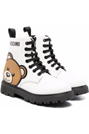 Moschino Teddy Bear motif lace-up boots