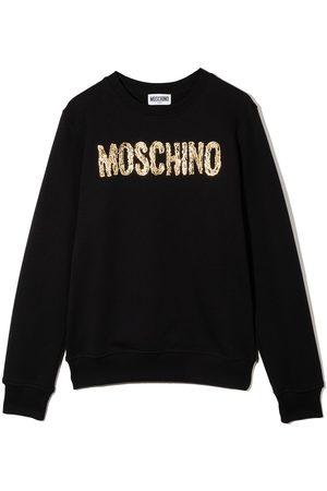 Moschino Logo-print cotton sweatshirt