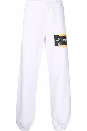 OFF-WHITE Men Sweatpants - Caravaggio painting slim track trousers