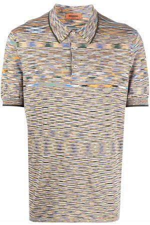 Missoni Men Polo Shirts - Intarsia-knit polo shirt
