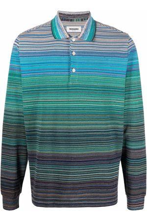 Missoni Striped crochet-knit polo shirt