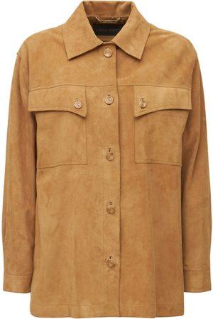 Alberta Ferretti Suede Buttoned Jacket