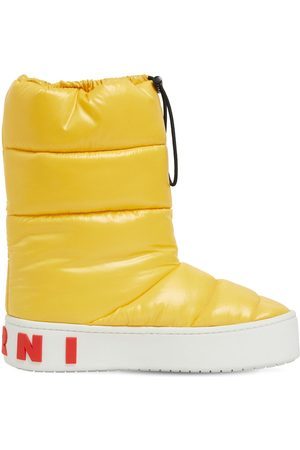 Marni 30mm Paw Padded Nylon Ankle Boots
