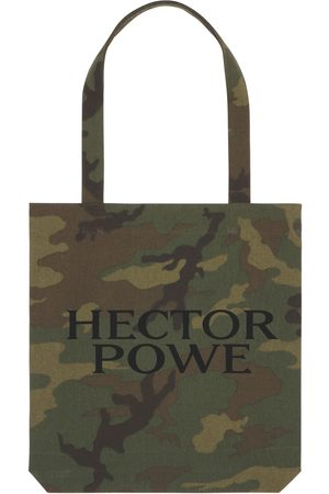 Women Luggage - Green Cotton Organic Camo Tote Bag Hector Powe