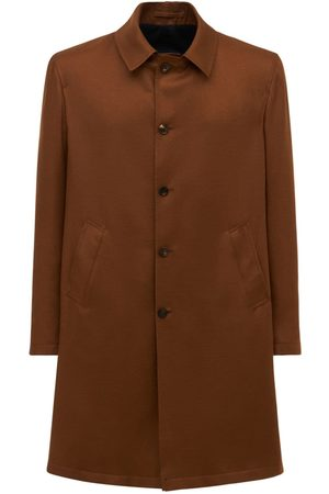 LARDINI Men Coats - Reversible Wool Cashmere & Silk Coat