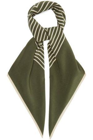 Totême Women Scarves - Monogram-print Silk Scarf - Womens - Multi
